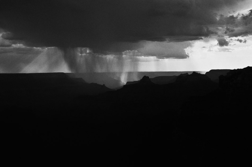 Storm above the Grand Canyon
