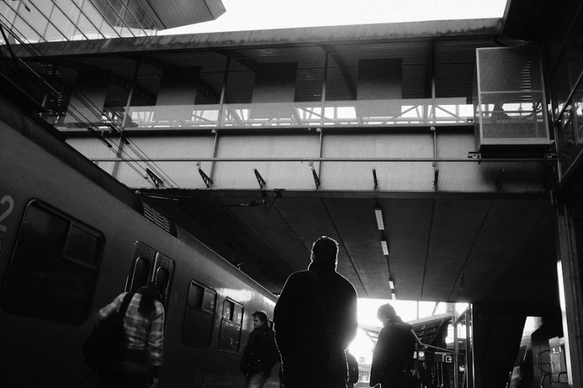 images, photographs, stroll photography, street photography, street, wouter brandsma, ricoh grd, ricoh grdigital, ricoh grd3, ricoh gr digital 3, ricoh grdiii, ricoh gr, photography, grd, grd3, snapshots, grd snapshot, ricoh grd photography, black and white, strolling, brandsma, train, train station, gr, Waiting for the glow
