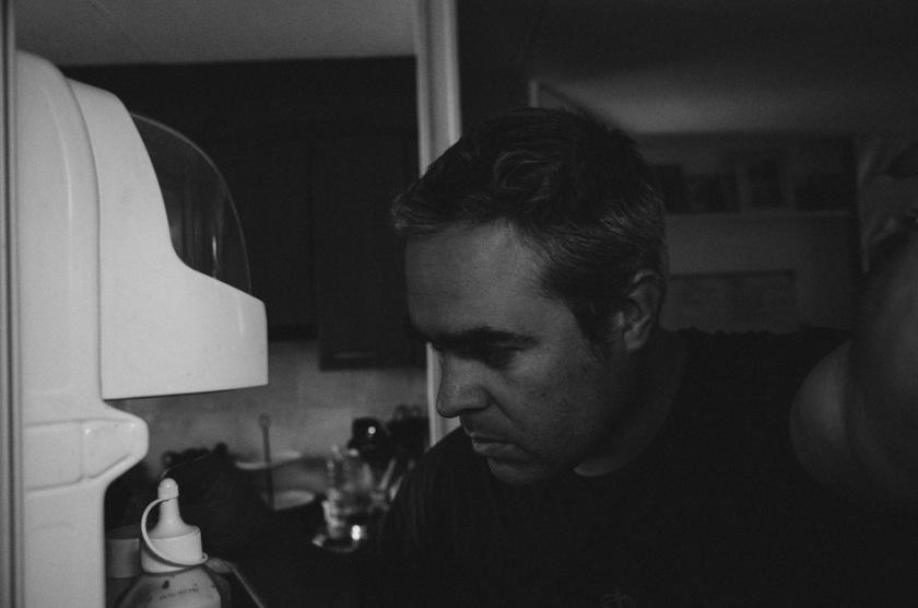 photograph, photography, black and white, b&w,. fridge, selfie, ricoh, ricoh gr, ricoh gr digital